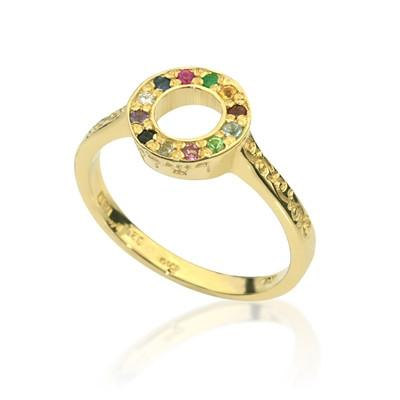 """Rachel"" choshen ring , made from gold with gem stones - HA'ARI JEWELRY Hand-crafted Kabbalah & Jewish jewelry"
