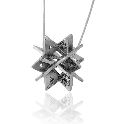 72 Names of G-D Secret Of Merkabah Pendant Kabbalah Jewelry by HaAri - HA'ARI JEWELRY
