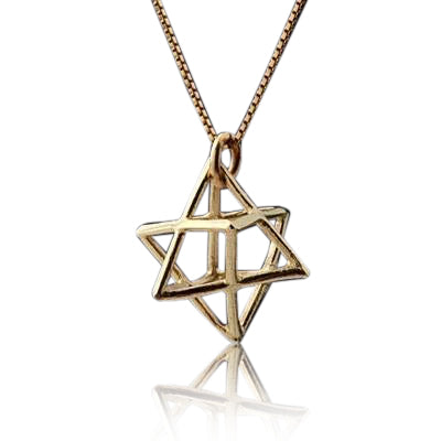 Gold Merkabah Pendant by HaAri Jewelry - HA'ARI JEWELRY Hand-crafted Kabbalah & Jewish jewelry