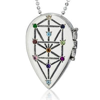 Tree of Life Kabbalah Locket Necklace by HaAri