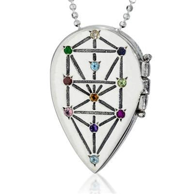 Tree of Life Kabbalah Locket Necklace by HaAri - HA'ARI JEWELRY Hand-crafted Kabbalah & Jewish jewelry