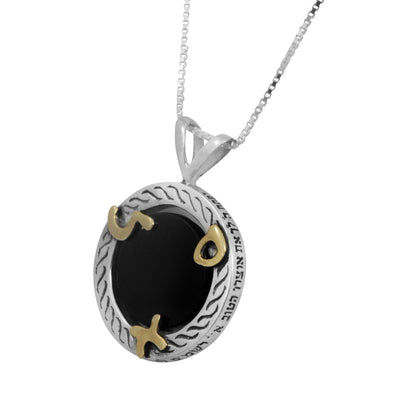 Prosperity Pendant With Onyx - HA'ARI JEWELRY
