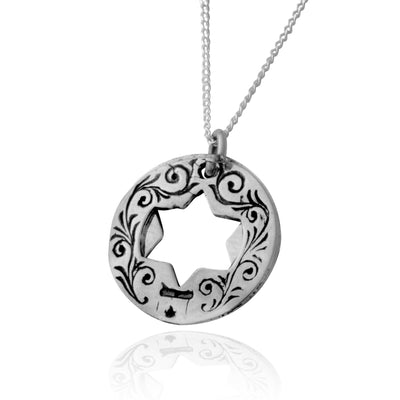 Shield Of Abraham Kabbalah Sillver Pendant - HA'ARI JEWELRY Hand-crafted Kabbalah & Jewish jewelry