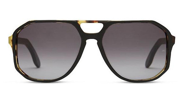 Oliver Goldsmith Spillane c. Matte Black Leopard Sunglasses