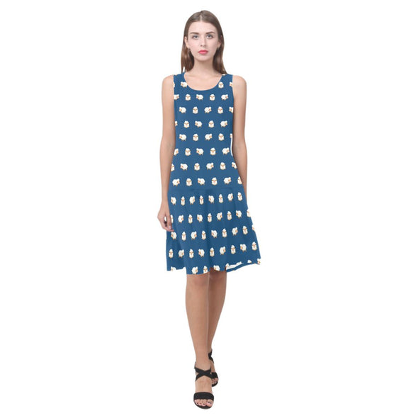 Sheep Pattern Dress