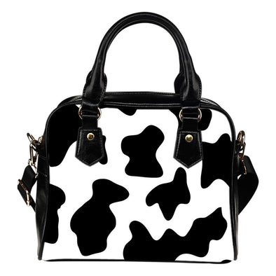 Cow Print Shoulder Handbag