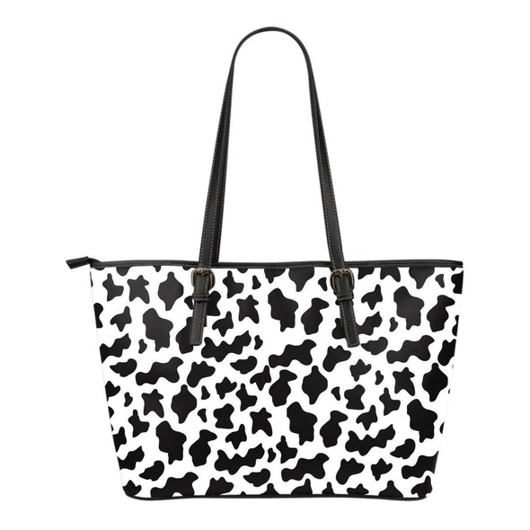 Cow Print Leather Tote Bag