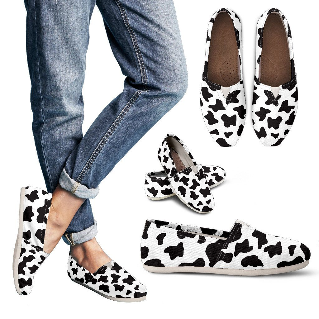 Cow Print Casual Shoes Streetment