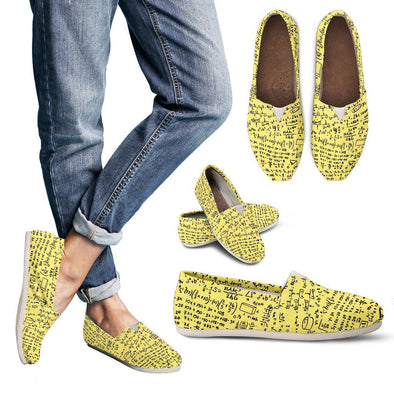 Math Equations Casual Shoes