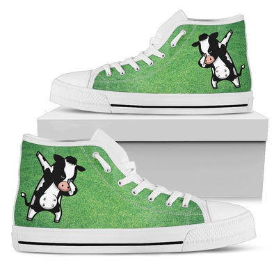 Cow Dabbing Shoes (Grass Background)
