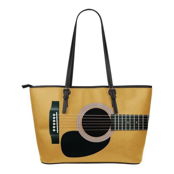 Guitar Leather Tote Bag