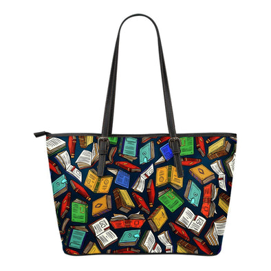 Book Lovers Leather Tote Bag