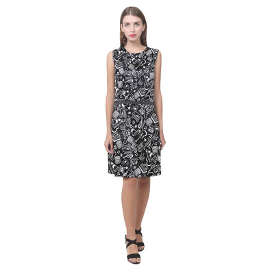 Music Doodle Sleeveless Dress