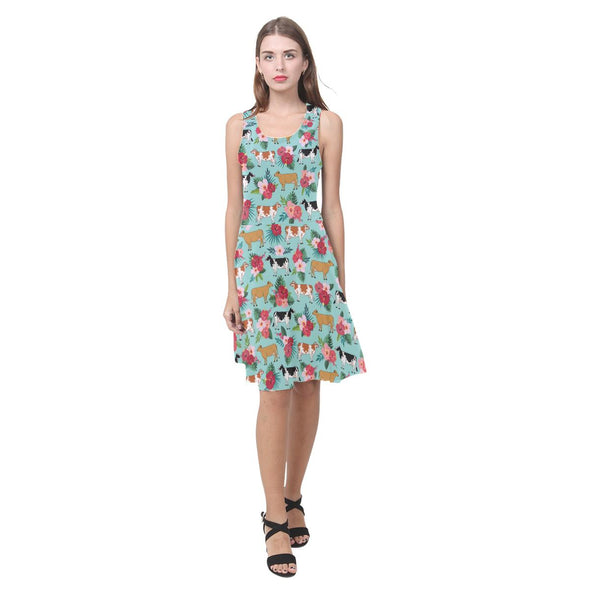 Floral Cow Sundress