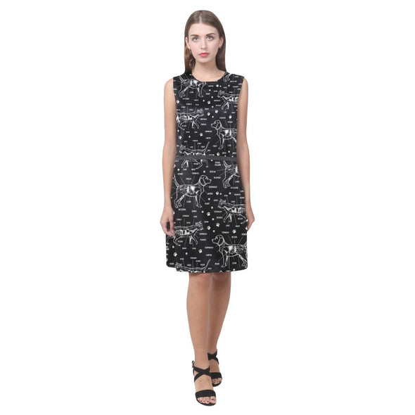 Veterinary Doodle Sleeveless Dress