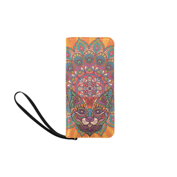 Mandala Cat Women's Clutch Purse