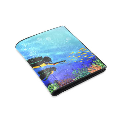 Scuba Diving Leather Wallet