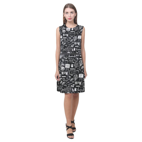 Teacher Doodle Sleeveless Dress