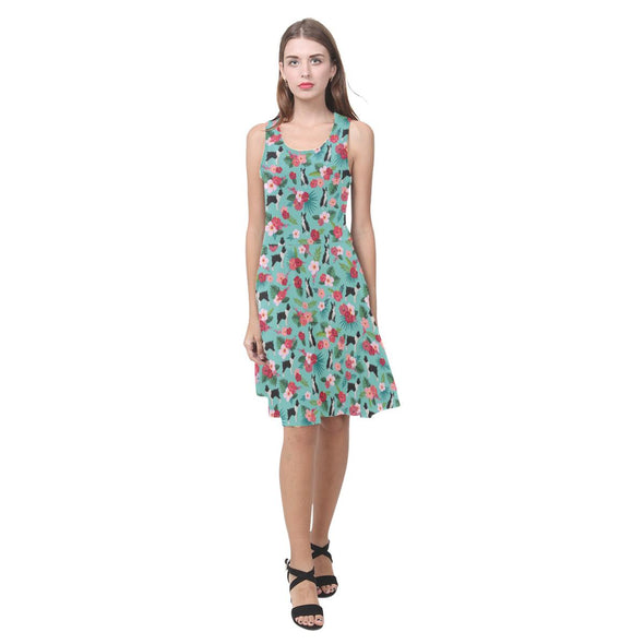 Floral Boston Terrier Sundress