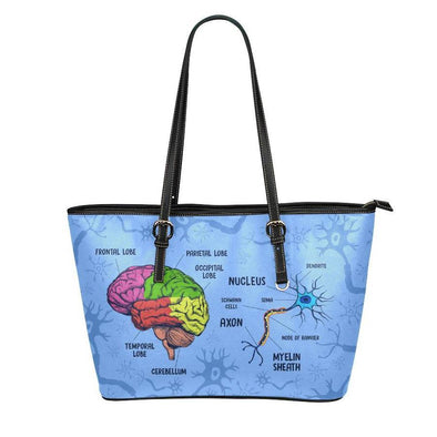 Neuroscience Leather Tote Bag