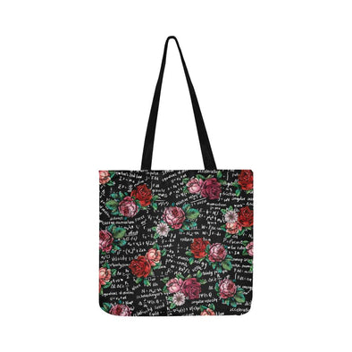 Floral Math Equations Tote Bag