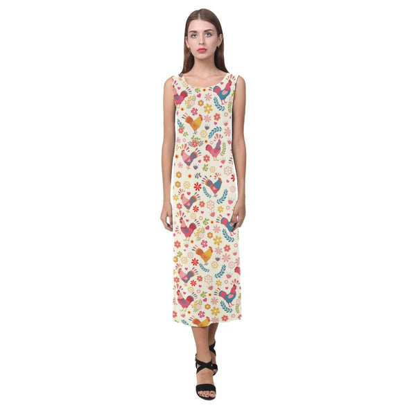 Floral Chicken Maxi Dress