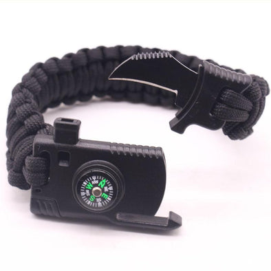 5-in-1 Paracord Survival Bracelet Kit with Compass