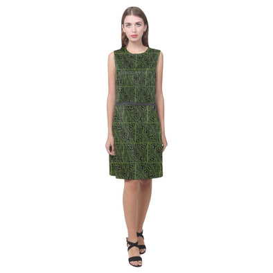 Circuit Board Sleeveless Dress