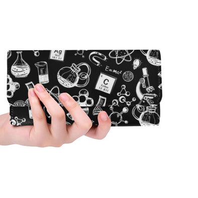 Science Doodle Women's Tri-Fold Wallet