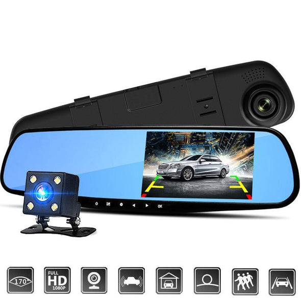 "HD Rear View Mirror Backup Camera - 4.3"" Monitor Screen"