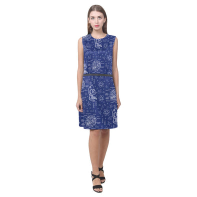 Biology Doodle Dress (Blue)