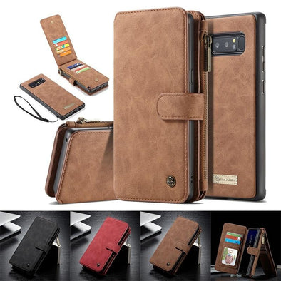 2 in 1 Detachable Leather Wallet Phone Case (For Samsung and iPhone)