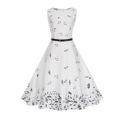 Music Notes Sleeveless Dress