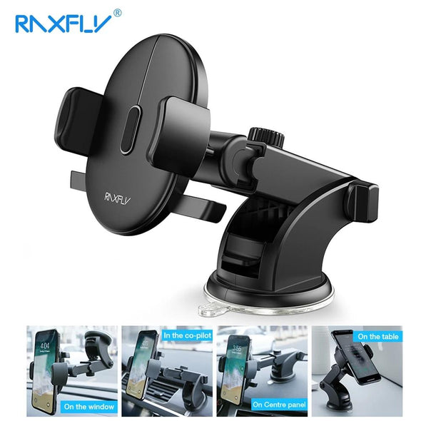 RAXFLY Auto Locking & Extendable Car Phone Holder