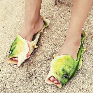 Fish-Shaped Flip Flops