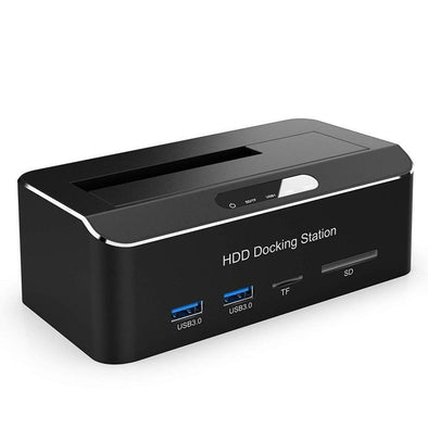 SATA HDD Docking Station with Card Readers & USB Ports