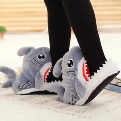 Chomping Shark Adult Slippers For Men and Women
