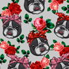 Floral Boston Terrier Dress
