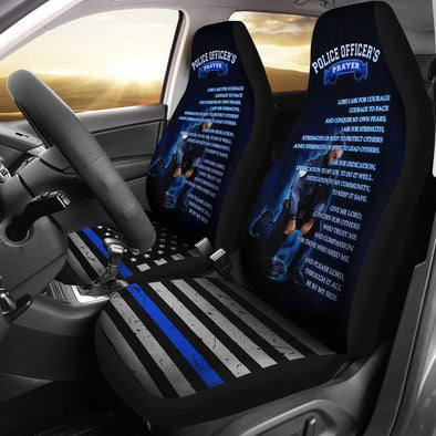 Police Officer's Prayer Car Seat Covers (Set of 2)