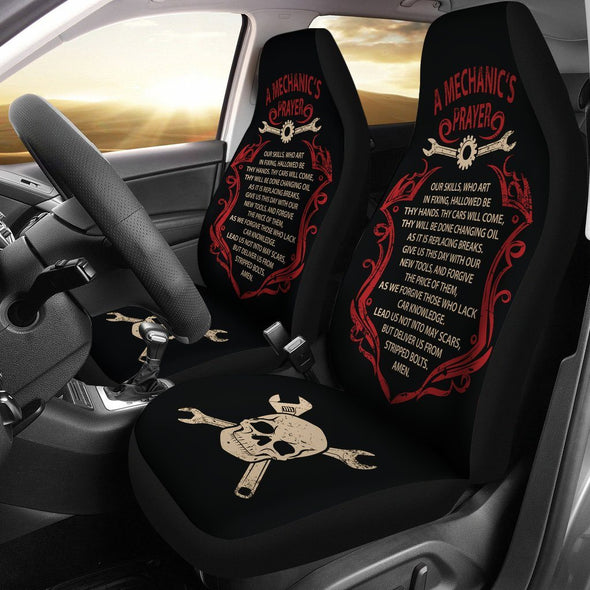 Mechanic's Prayer Car Seat Covers (Set of 2)