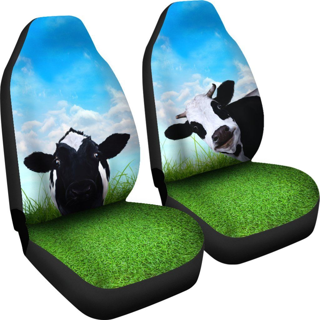 Cow Car Seat Covers Set Of 2 Streetment