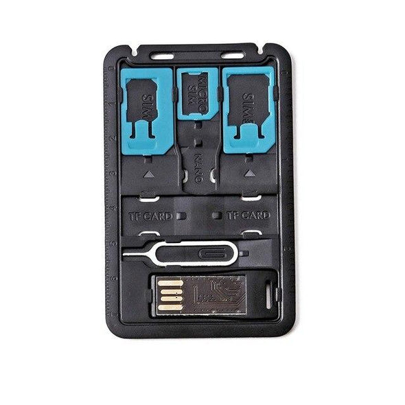 8 in 1 Credit Card Sized SIM & microSD Card Case
