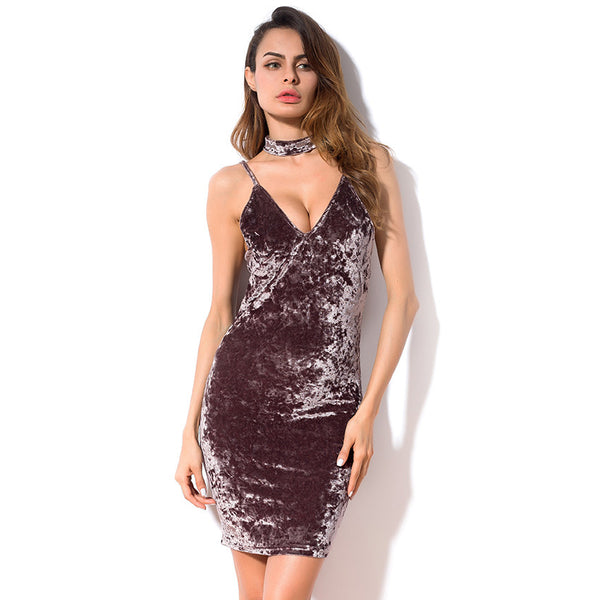 Wild Velvet Bodycon Dress