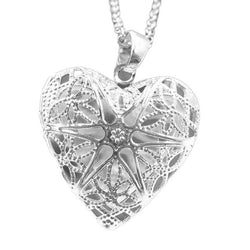 Heart Necklace with Secret Compartment