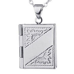 Book Necklace with Secret Compartment