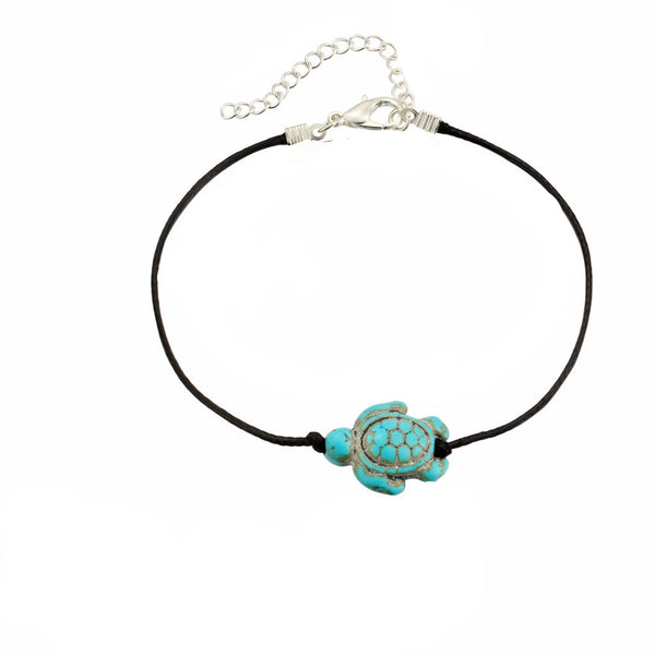 Turquoise Turtle Anklet