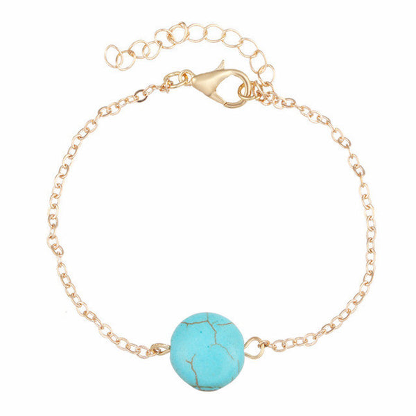 Turquoise Moon Anklet