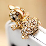New Cute Diamond Cat Pattern koala Anti Dust Plug For Phone Accessories Earphone Jack for iphone samsung