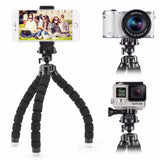 Mini Flexible Sponge Octopus Tripod For iPhone Smartphone Tripod for Gopro Camera Accessory With Phone Clip