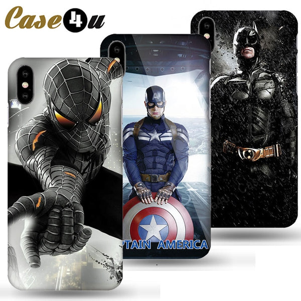 Marvel Avengers Captain America Shield Superhero Case for iPhone XS Max XR X 10 6 6s 7 8 Plus Hard PC Back Cover Ironman coque